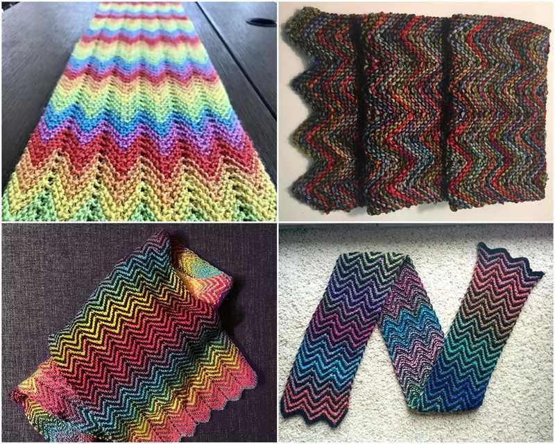 Zickzack Knitting Scarf Pattern