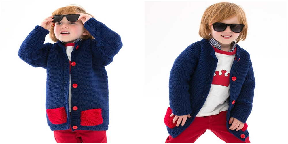 Boys Cardigan Knitting Pattern