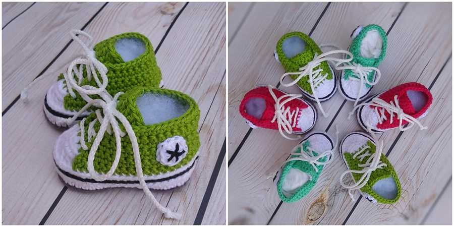 Baby Converse Crochet Pattern