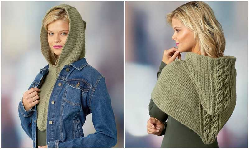 Cabled Hooded Cowl Pattern