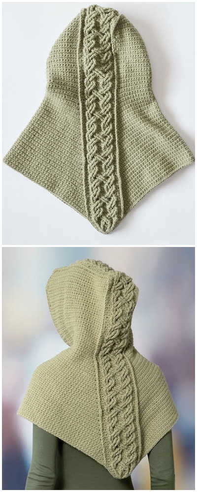 Free Cabled Hooded Crochet Pattern