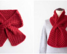 Cherry Pie Scarf Knitting Pattern