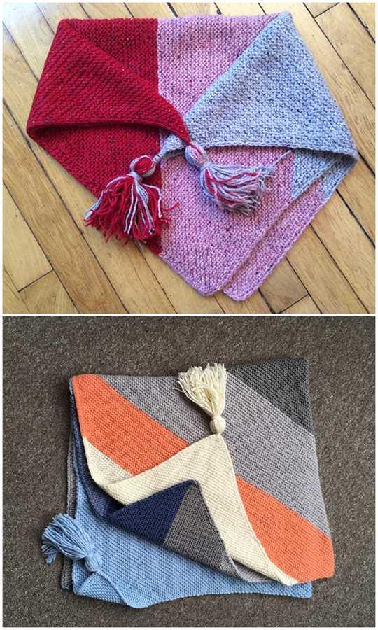 Colorblock Bias Blanket Pattern