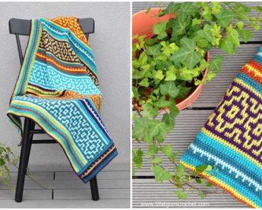 Mosaic Blanket Crochet
