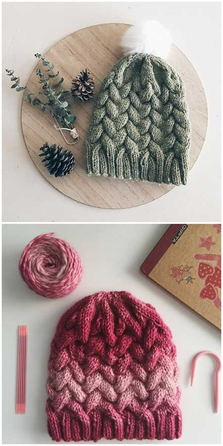 Free Ombre Cable Hat Pattern