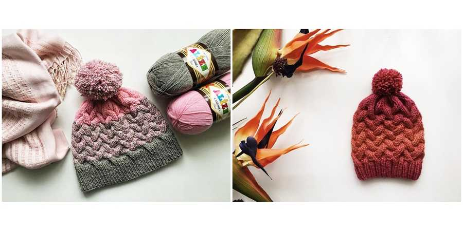 Ombre Cable Hat Knitting Pattern