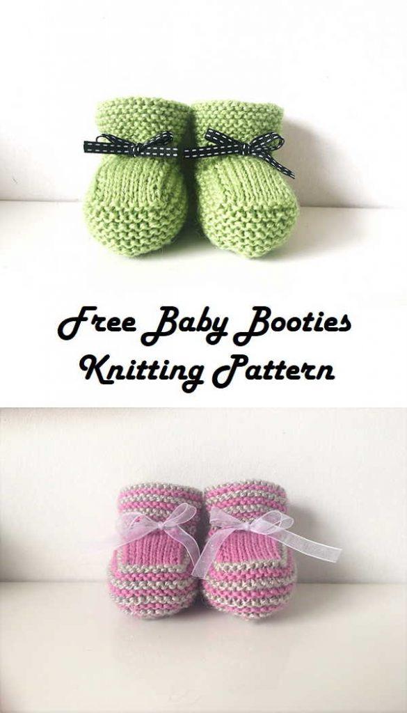 Free Knitting Baby Booties Pattern