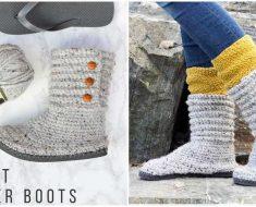 Free Crochet Boots Pattern