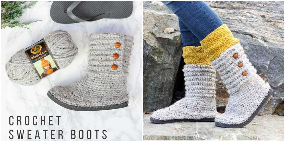 Cabin Boots Free Crochet Pattern Knitting Projects