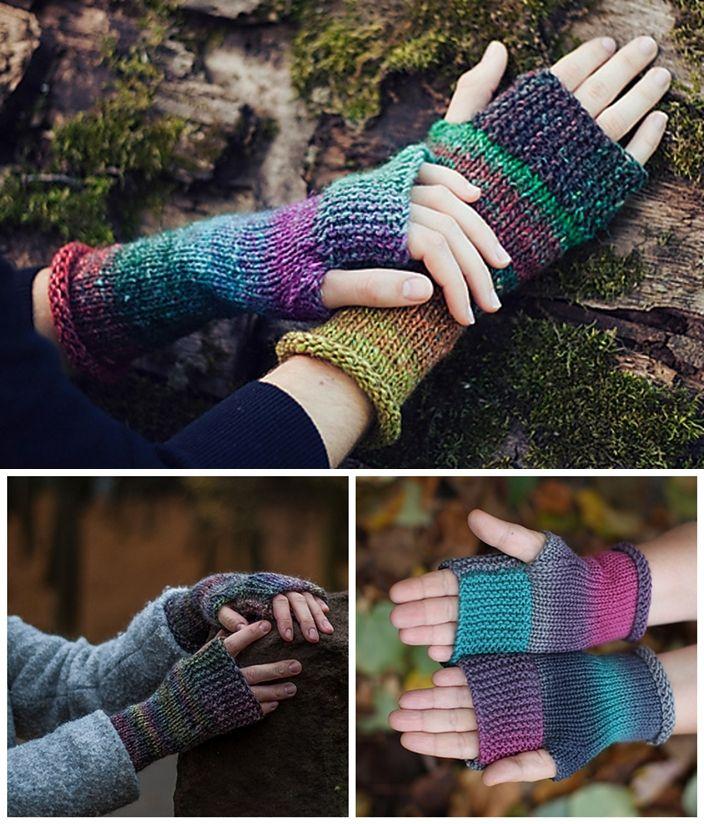 Free Knitting Fingerless Mittens Pattern