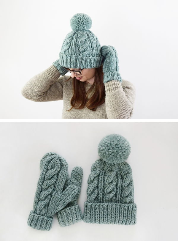 Free Knitting Hat and Mittens Pattern