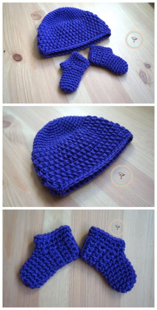 Free Crochet Hat and Booties Pattern