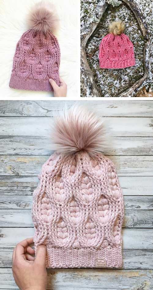 The Woven Hearts Beanie Pattern