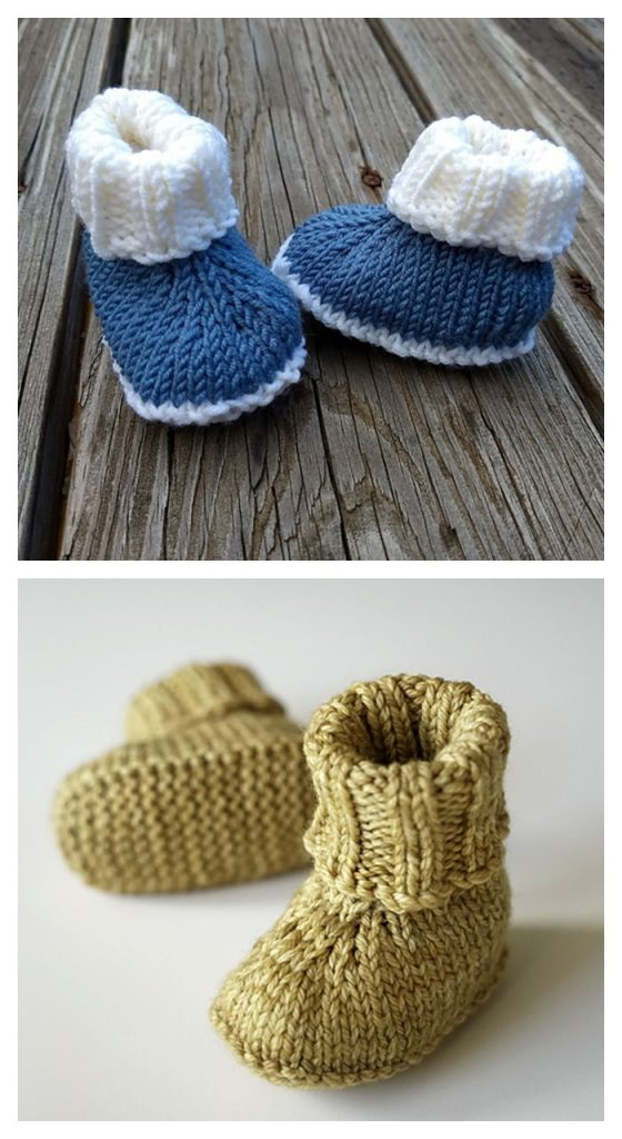 Free Knitting Baby Booties Pattern