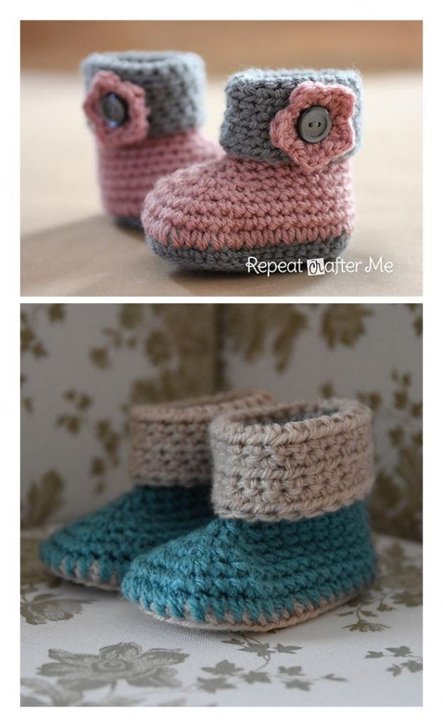 Cuffed Baby Booties Pattern