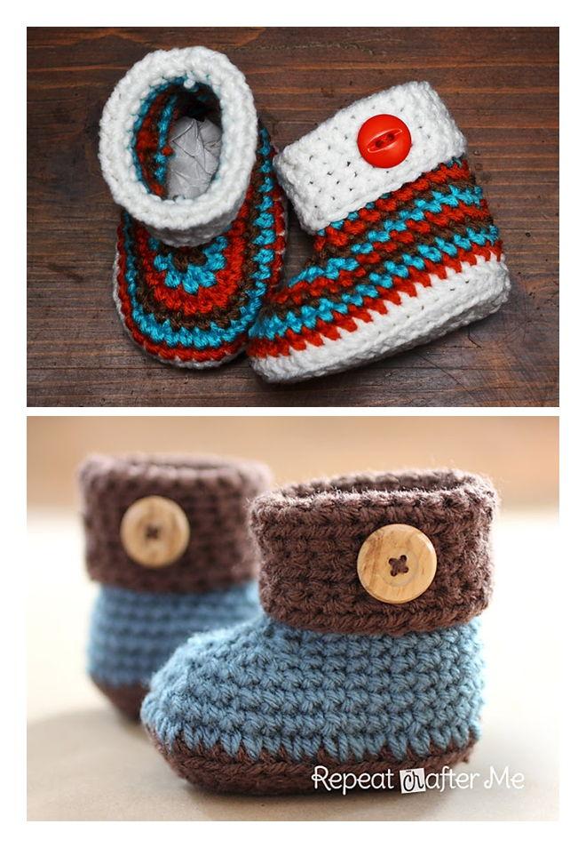 Free Crochet Booties Pattern