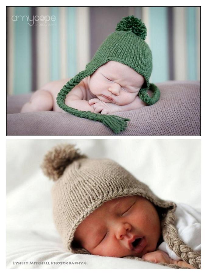 Chemo Earflap Hat Free Knitting Pattern