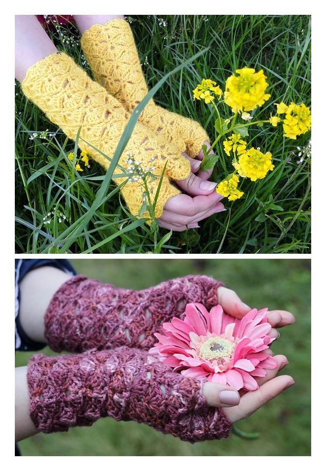 Free Crochet Fingerless Gloves Pattern