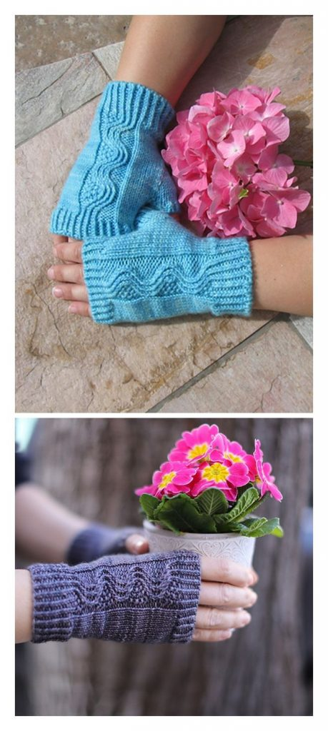 Nalu Mitts Free Knitting Pattern