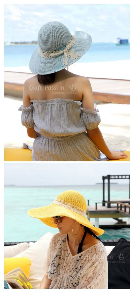 Raffia Beach Hat Crochet Pattern