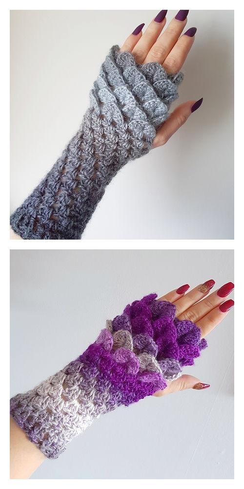 Dragon Scale Fingerless Gloves Pattern