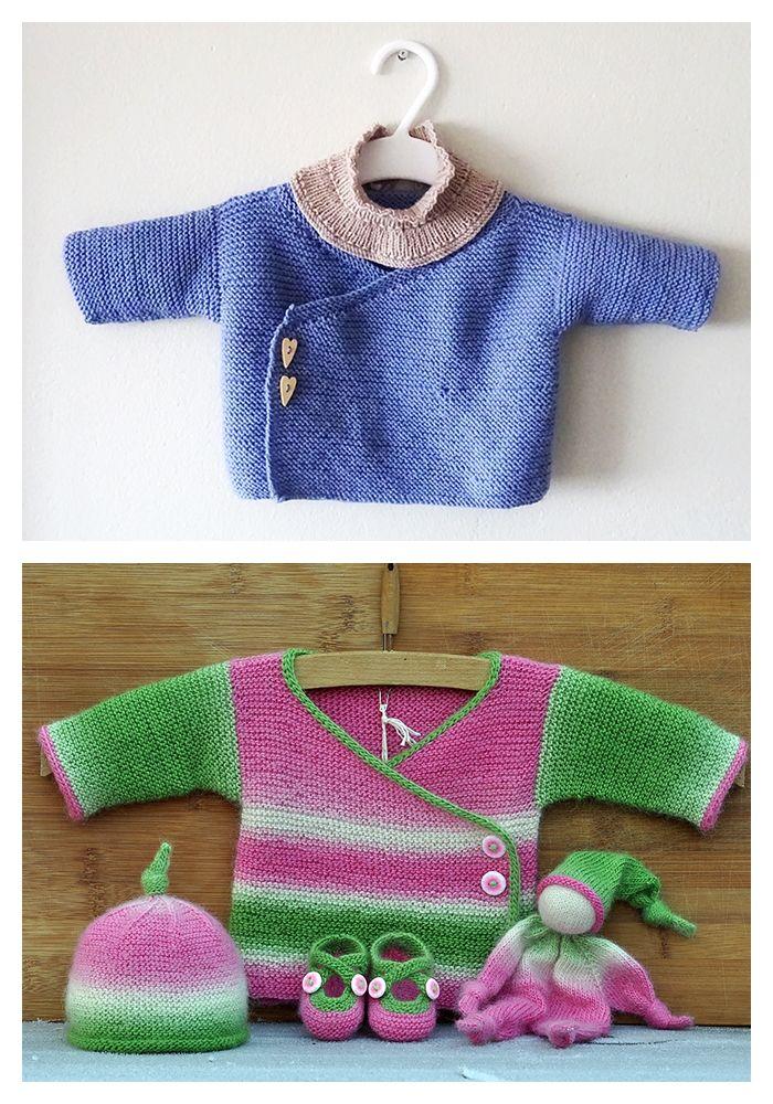 Garter Stitch Baby Cardigan Patterns