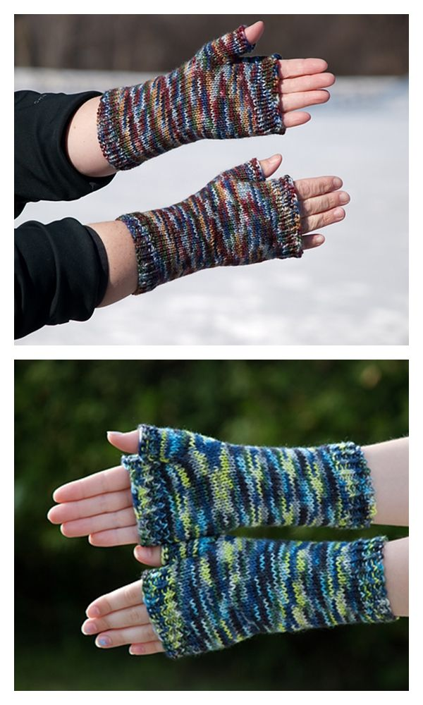 Semplice Fingerless Mitts Free Knitting Pattern
