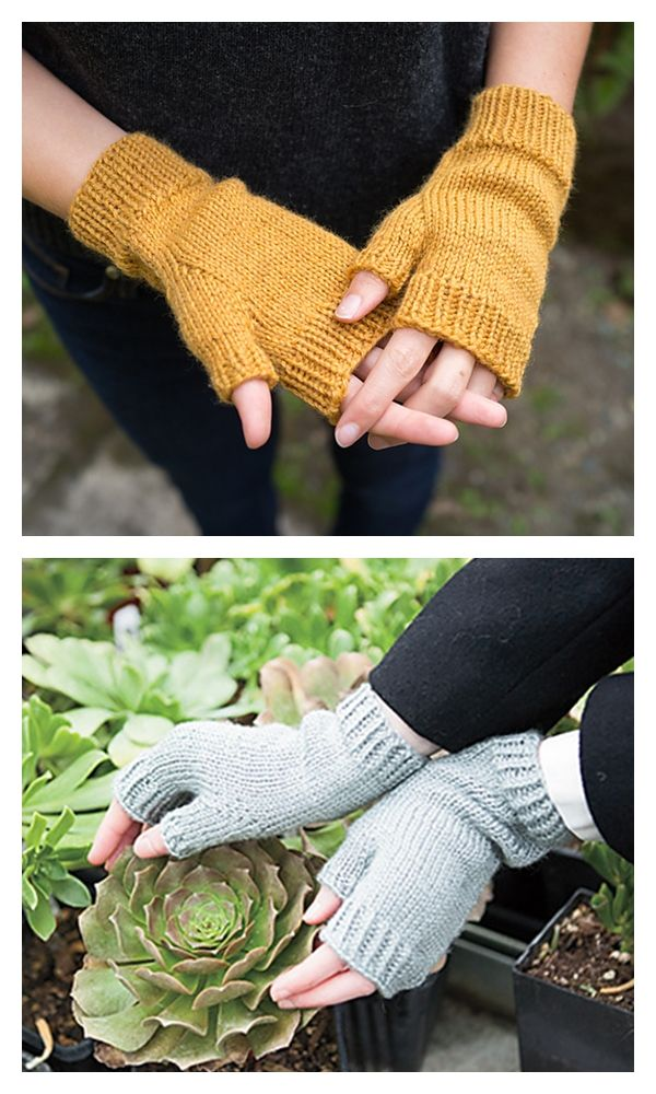 Free Knitting Fingerless Mittens Pattern