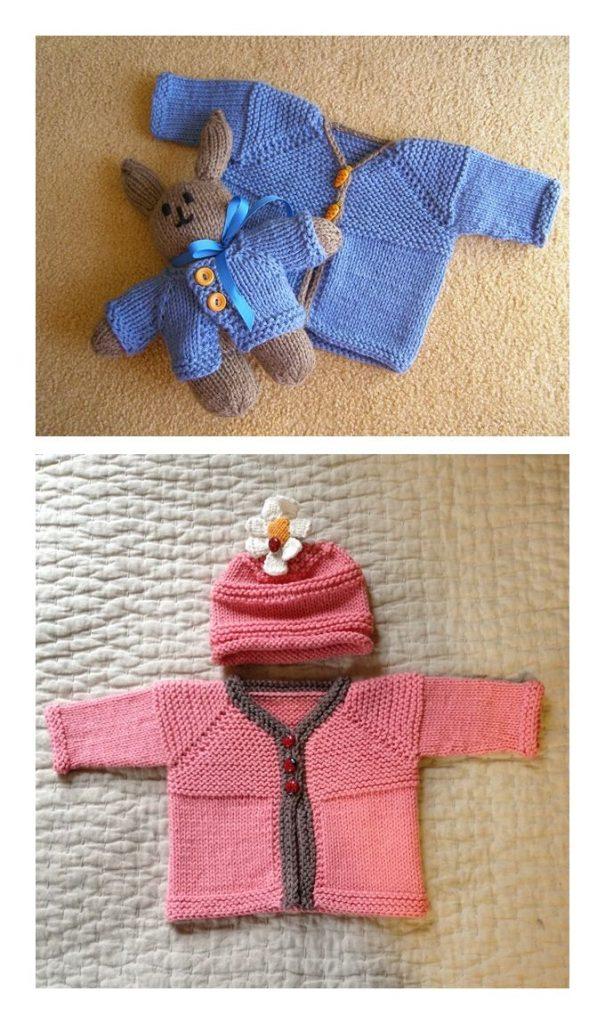 Hello Baby Cardigan Free Knitting Pattern