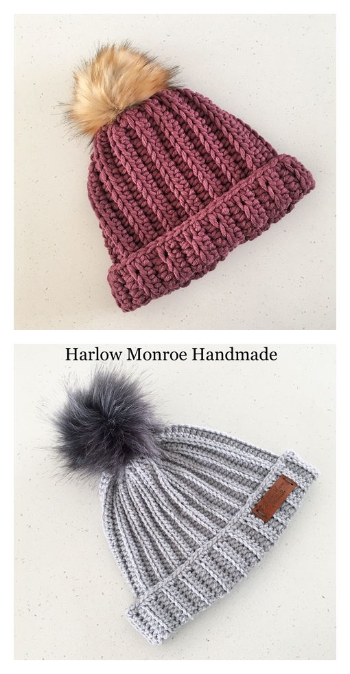 Rustic Ribbed Beanie Free Crochet Pattern