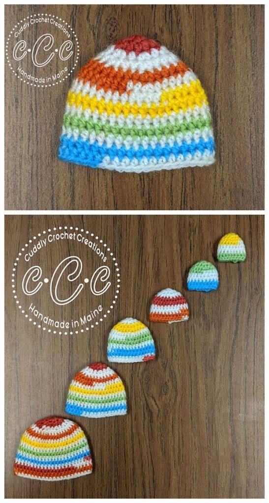Sleeping Angel Hat Free Crochet Pattern