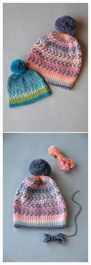 Sunset Slouch Hat Free Knitting Pattern