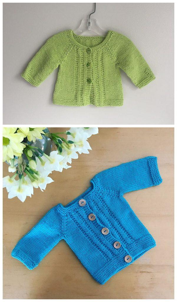 Wee Ashley Cardigan Free Knitting Pattern