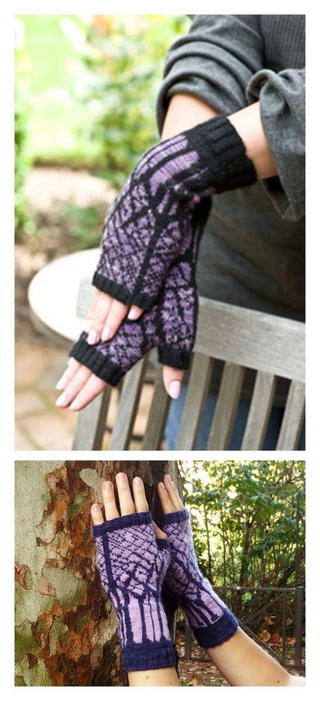 Winter Twilight Mitts Free Knitting Pattern