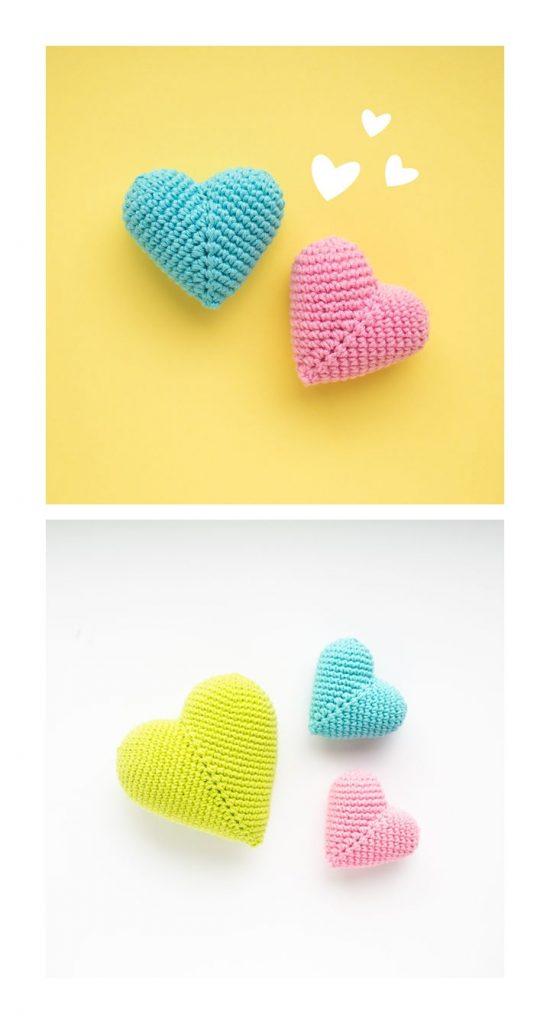 3D Heart Free Crochet Pattern