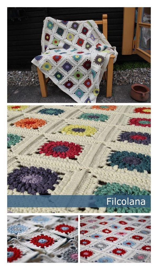 Paeonia Blanket Free Crochet Pattern