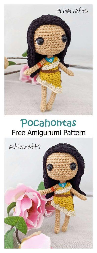 Pocahontas Free Amigurumi Pattern