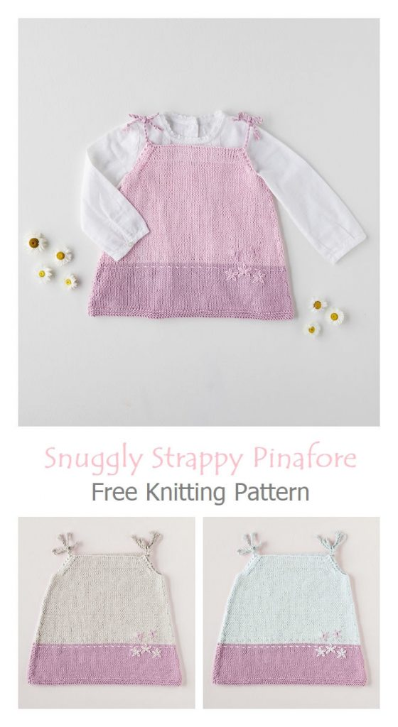 Snuggly Strappy Pinafore Dress Free Knitting Pattern