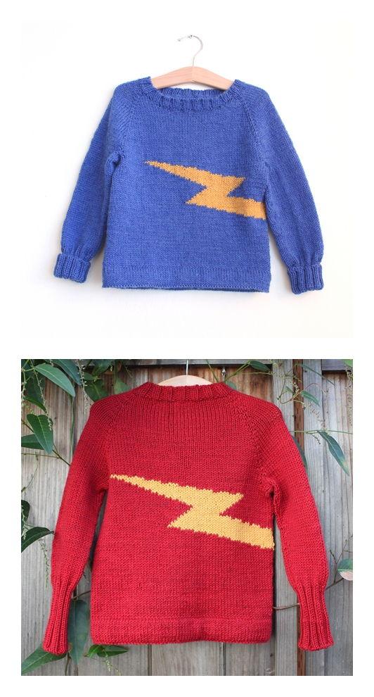 Zap! Sweater Free Knitting Pattern