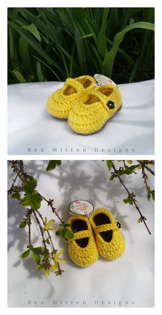Baby Mary Jane Shoes Free Crochet Pattern