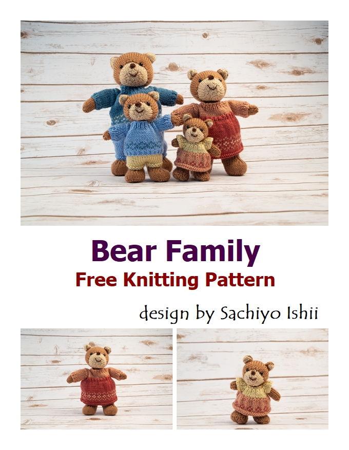 Bear Family Free Crochet Pattern