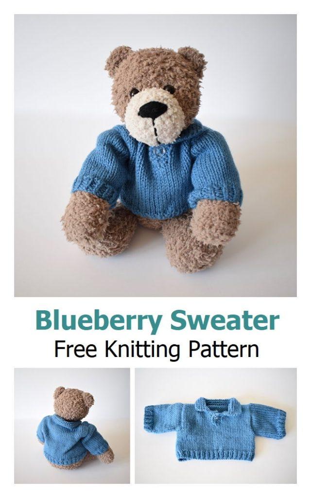 Blueberry Sweater Free Knitting Pattern