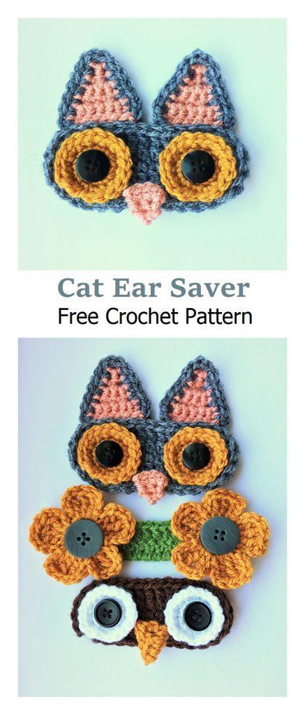 Cat Ear Savers Free Crochet Pattern