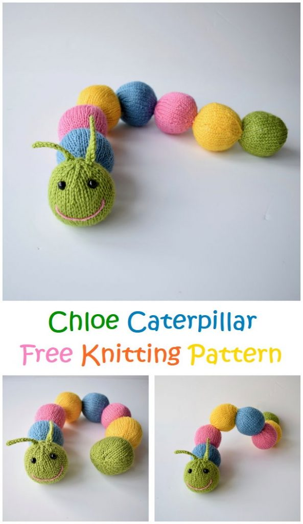 Chloe Caterpillar Free Knitting Pattern