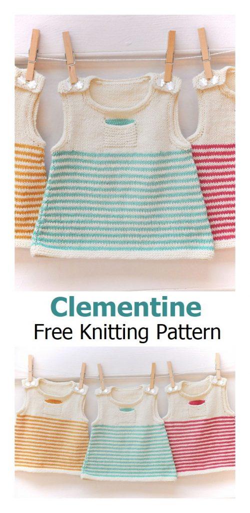 Clementine Dress Free Knitting Pattern