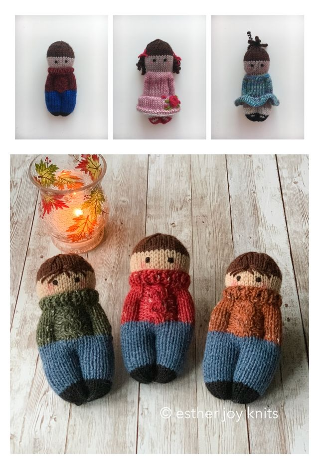 Cozy Izzy Dolls Free Knitting Pattern