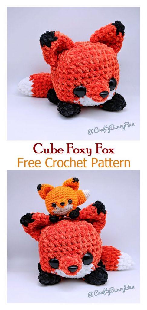 Cube Foxy Fox Free Crochet Pattern