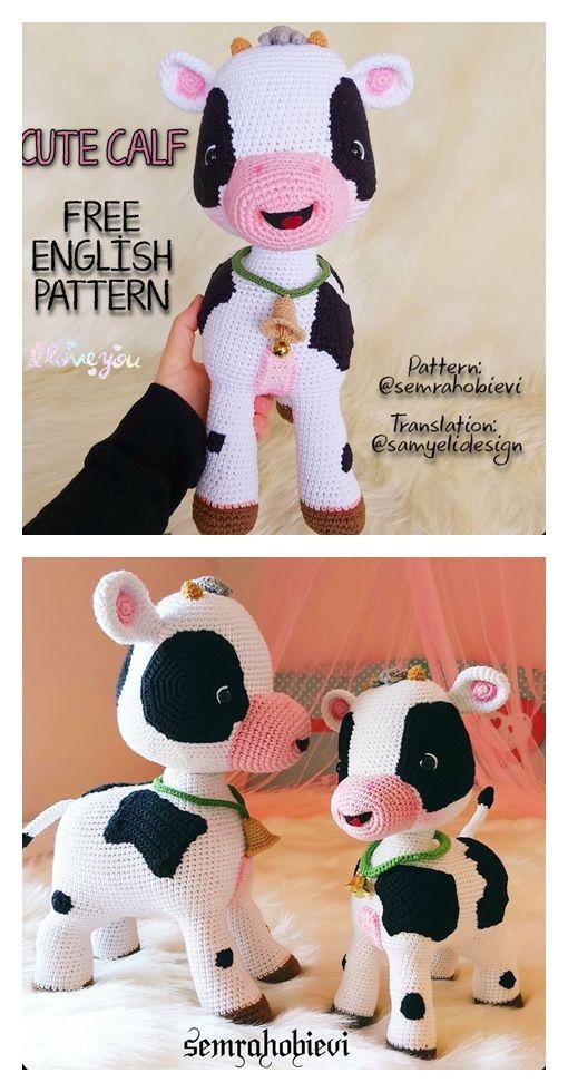 Cute Calf Free Amigurumi Pattern