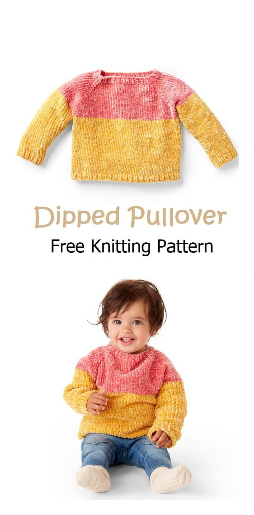 Dipped Pullover Free Knitting Pattern