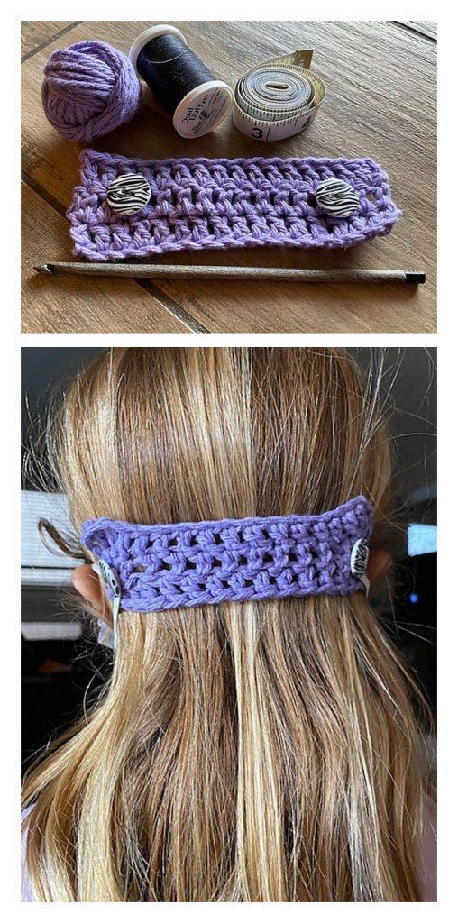 Face Mask Ear Guard Free Crochet Pattern